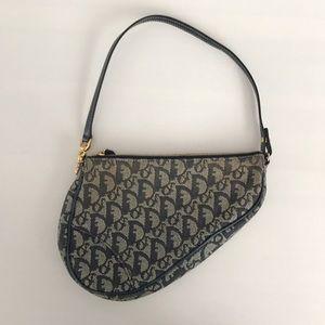 Vintage Christian Dior Mini Saddle Bag